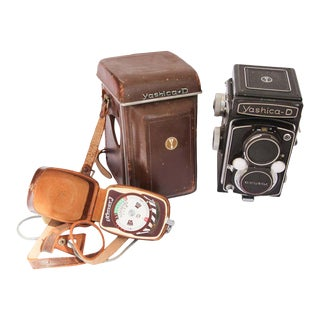 Yashica-D Camera with Case and Accessories, circa 1958 For Sale