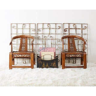 Pair of Ming Style Elm Horseshoe Chairs Preview