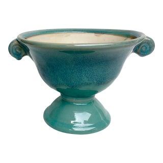 Vintage Drip Glaze Blue Urn