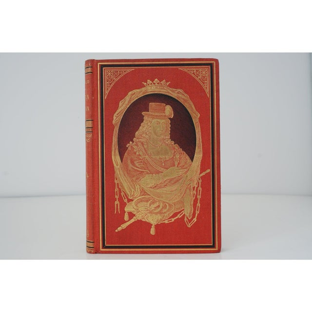 Antique 19c Decorator Books - Red With Gold Embossing For Sale - Image 4 of 8