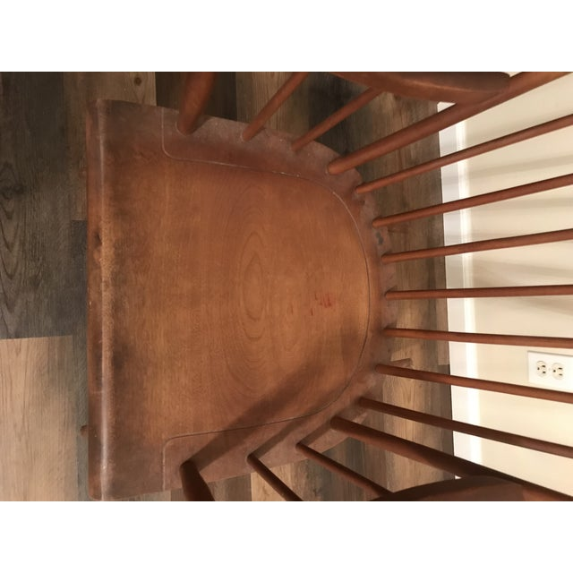 Vintage Wood Rocking Chair For Sale - Image 9 of 13