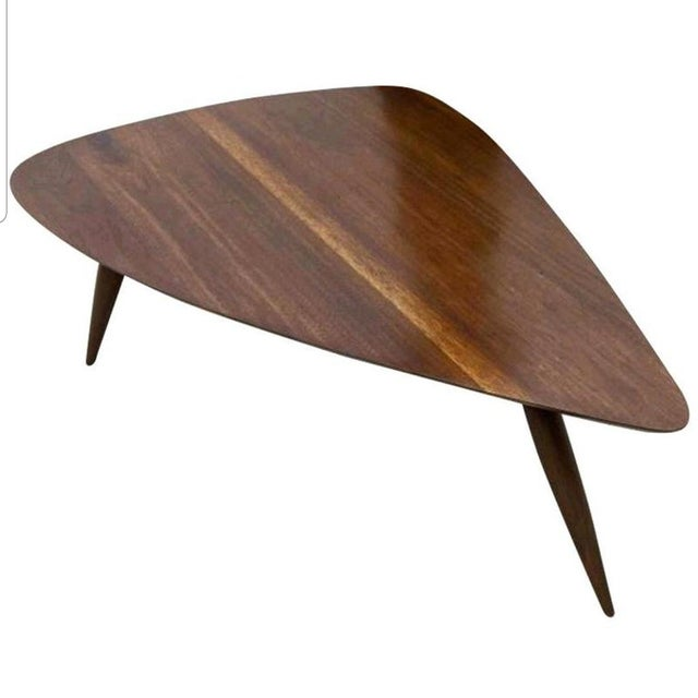 1960s Mid Century Walnut Cocktail Table For Sale - Image 9 of 9