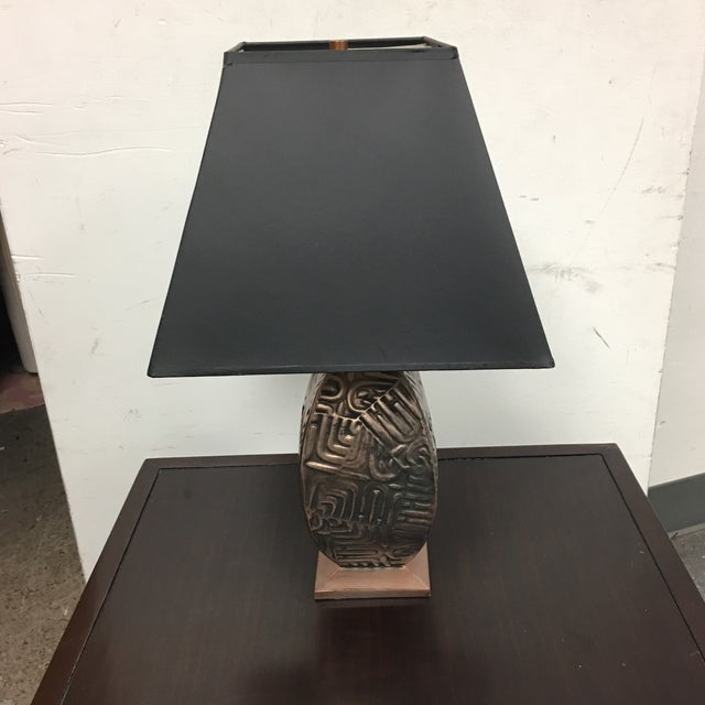Gumps Gump's Metal Base Table Lamp For Sale - Image 4 of 8