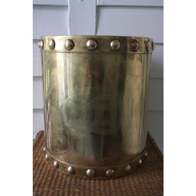 Vintage Mid-Century Chinoiserie Style Brass Planter For Sale - Image 10 of 13