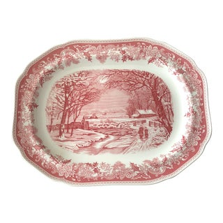 Spode Winter Scene Platter For Sale