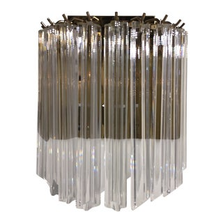 Venini Crystal Wall Sconce For Sale