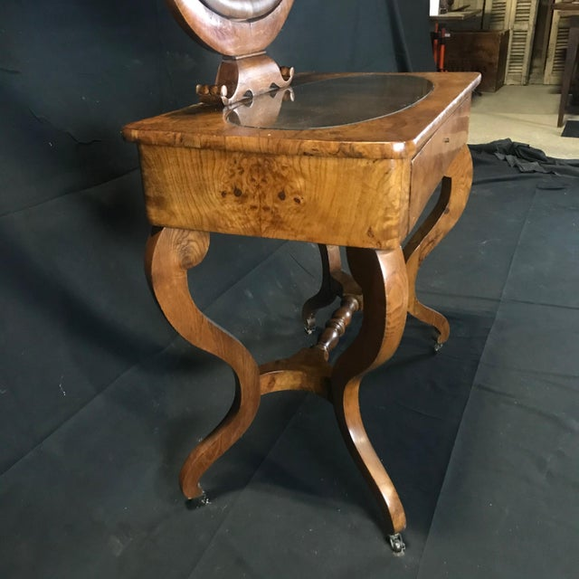 Brown Mid 19th Century French Walnut Dressing Table For Sale - Image 8 of 13