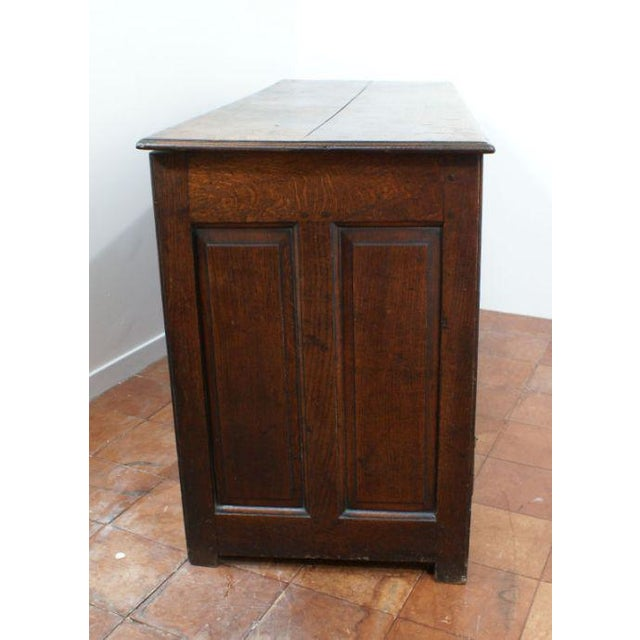 Mid 18th Century George II Oak Paneled Mule Chest For Sale - Image 4 of 5