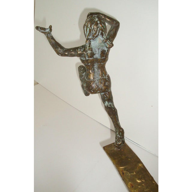 Bronze Swimmer Sculpture by C. Jere For Sale In Richmond - Image 6 of 10