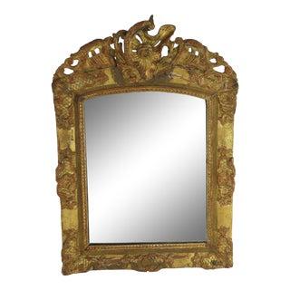 18th Century Carved Gilt Wood Louis XVI Mirror Rare Period Mirror Powder Room Sz For Sale