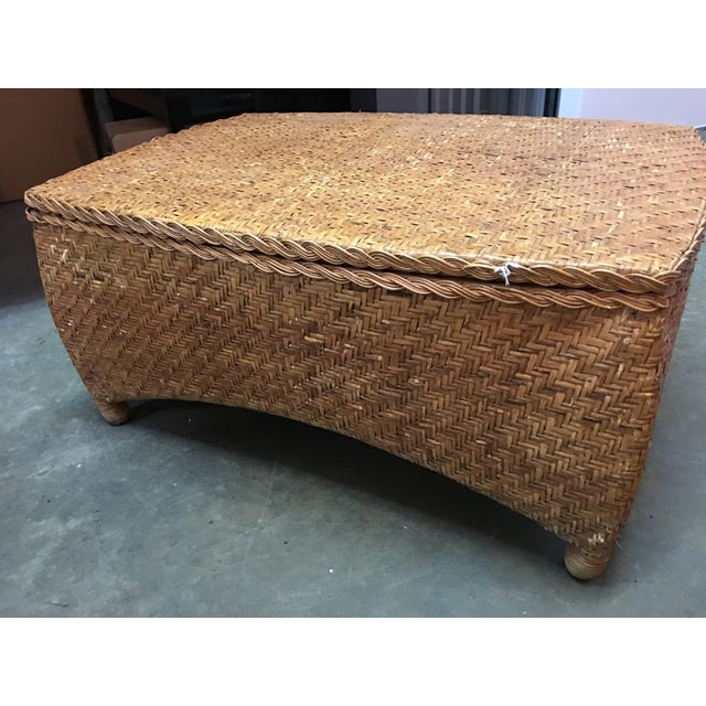 Wicker Center Table/Trunk with Storage - Image 6 of 7