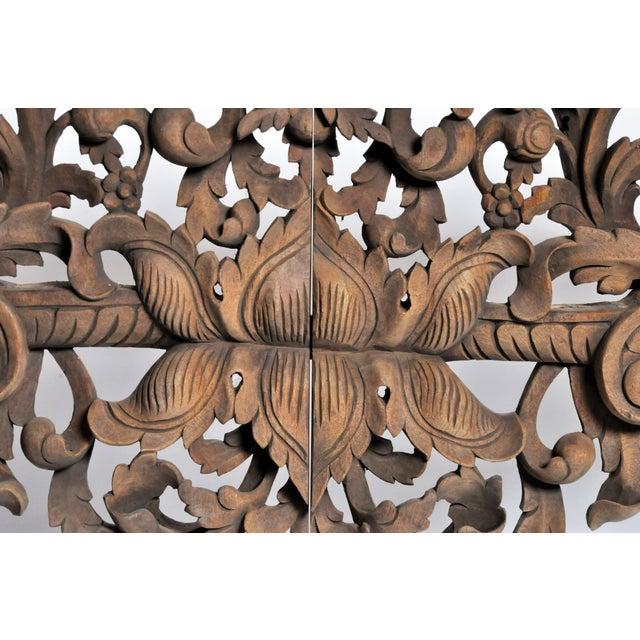 Vintage Burmese Hand-Carved Arch For Sale - Image 11 of 13