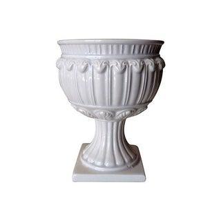 Vintage Italian Porcelain Pedestal Urn For Sale