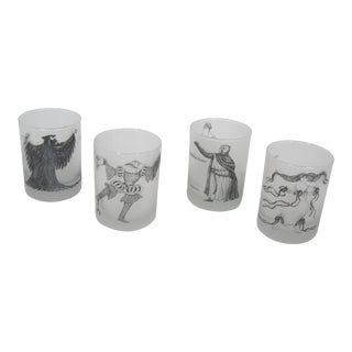 1980s The Metropolitan Opera Drinking Glasses - Set of 4 For Sale