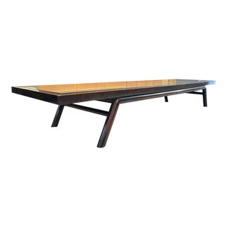 T. H. Robsjohn- Gibbings for Widdicomb Custom Ordered Caned Coffee Table 1950's For Sale