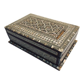 Antique Syrian Mother of Pearl Inlay Box For Sale