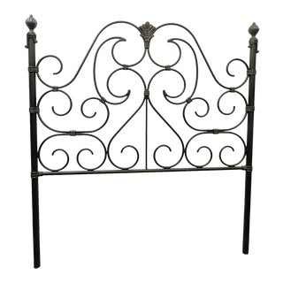 Victorian Style Scroll Design Queen Size Headboard For Sale