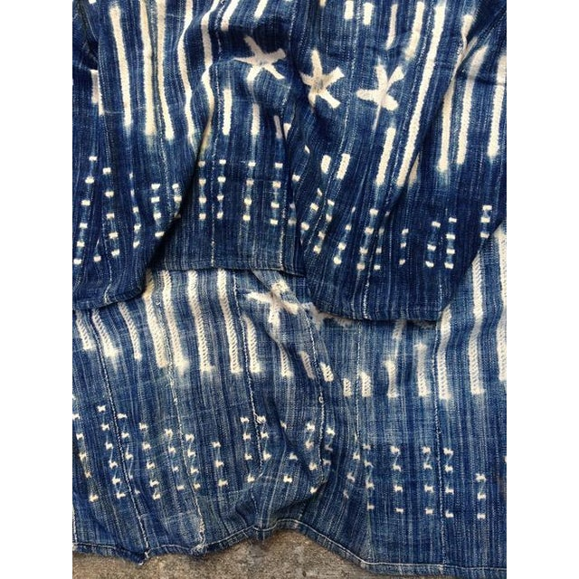 Vintage West African Indigo Throw - Image 3 of 6
