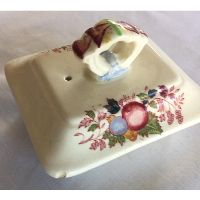 Ceramic Vintage Mason's Red Multicolor Fruit Basket Ironstone Teapot For Sale - Image 7 of 10