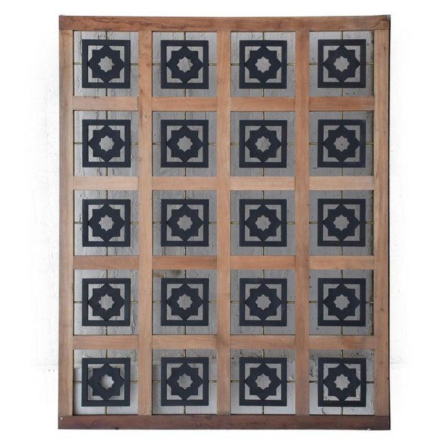 Mexican Modernist Mahogany Room Divider Escudero Era For Sale - Image 9 of 9
