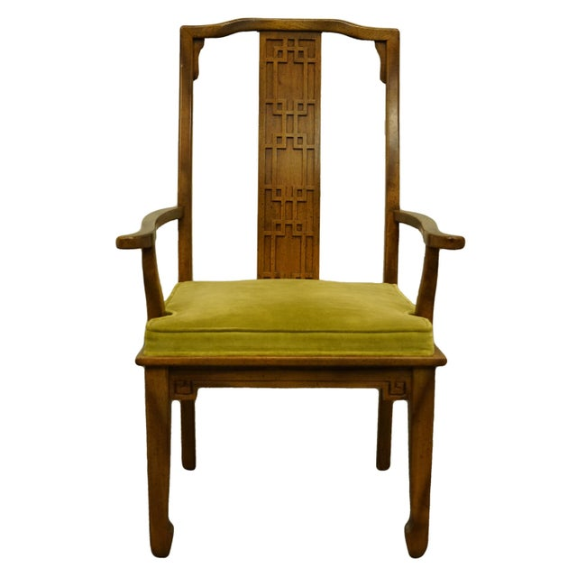 Century Furniture Asian Inspired Chinoiserie Dining Arm Chair For Sale - Image 10 of 10