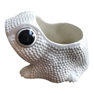 Vintage Mid Century Hobnail Textured Italian Frog Planter For Sale