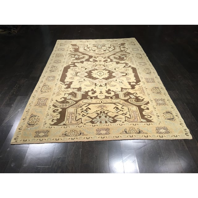 "Bellwether Rugs Vintage Turkish Oushak Rug - 6'x9'5"" - Image 2 of 8"