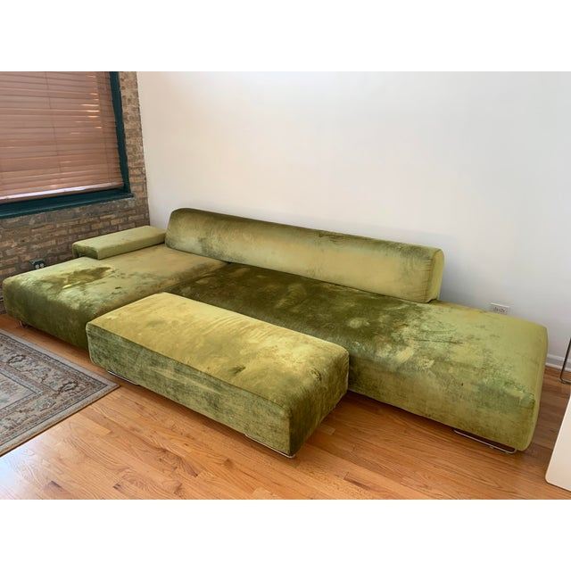 Moroso Lowland Sofa With Ottoman & Side Table For Sale In Chicago - Image 6 of 8