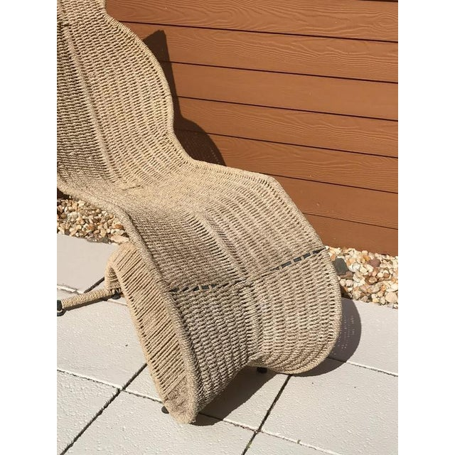 Modern Sculptural Woven Rope Chaise Longue For Sale - Image 3 of 7
