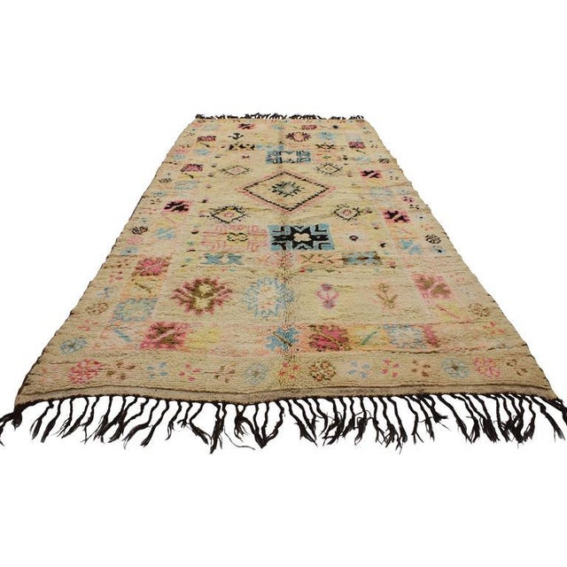 Berber Tribes of Morocco Vintage Berber Moroccan Rug With Bohemian Postmodern, 5'9 X 11'7 For Sale - Image 4 of 10