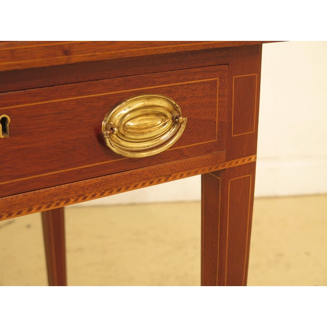 1960s 1960s Federal Kittinger Biggs Federal Inlaid Mahogany Ladies Writing Desk For Sale - Image 5 of 13
