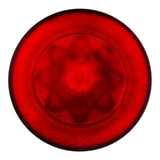Cristal d'Arques-Durand Antique Ruby Glass Dinner Plates - 6 Available For Sale