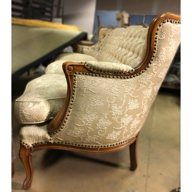 Queen Anne Queen Anne White Sofa For Sale - Image 3 of 10