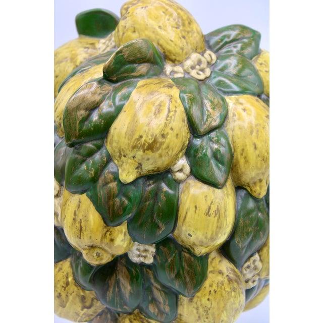 Vintage Italian Floral Lemon Tree / Topiary For Sale - Image 4 of 13