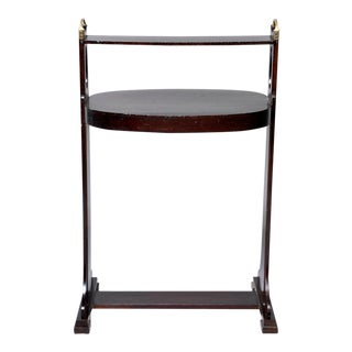 Dark Stained Palisander Arts and Crafts Stand or Side Table For Sale