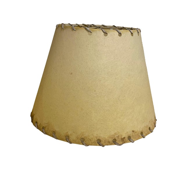 American 1960s Western Rawhide Lamp Shades - a Pair For Sale - Image 3 of 6