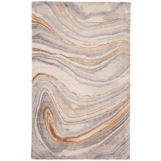 Jaipur Living Atha Handmade Copper/ Gray Area Rug - 8′ × 11′