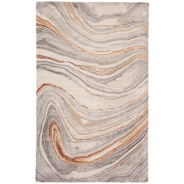Jaipur Living Atha Handmade Copper/ Gray Area Rug - 8′ × 11′ For Sale
