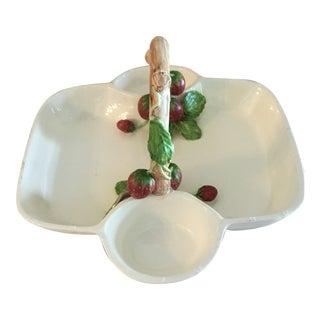 Fragoline Strawberry Handled Appetizer Bowl For Sale
