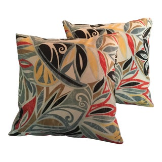 Mid-Century Modern Ultra Suede Pillows - a Pair