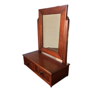 Antique Biedermeier Era Table Mirror For Sale