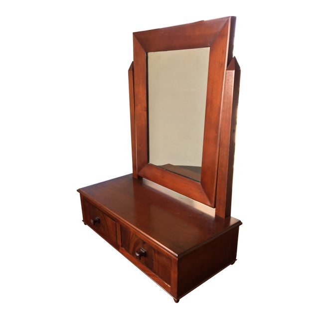 Antique Biedermeier Era Table Mirror (Free Shipping) For Sale
