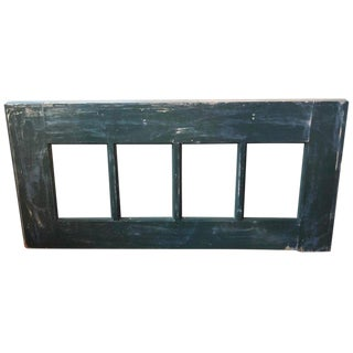 Primitive Country Blue Green Mirror