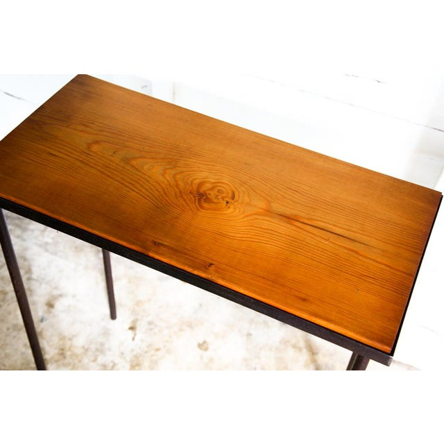 Orange Mid-Century Modern Hand-Bag Entry Table For Sale - Image 8 of 12