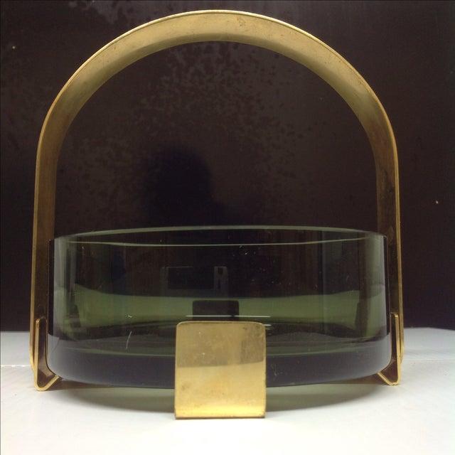 Fontana Arte Fontana Arte Glass & Brass Bowl Max Ingrand For Sale - Image 4 of 5