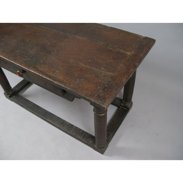 18th Century Antique Italian Walnut Table For Sale In New York - Image 6 of 8