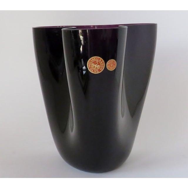 1950s Per Lütken Purple Glass Vase For Sale - Image 5 of 10