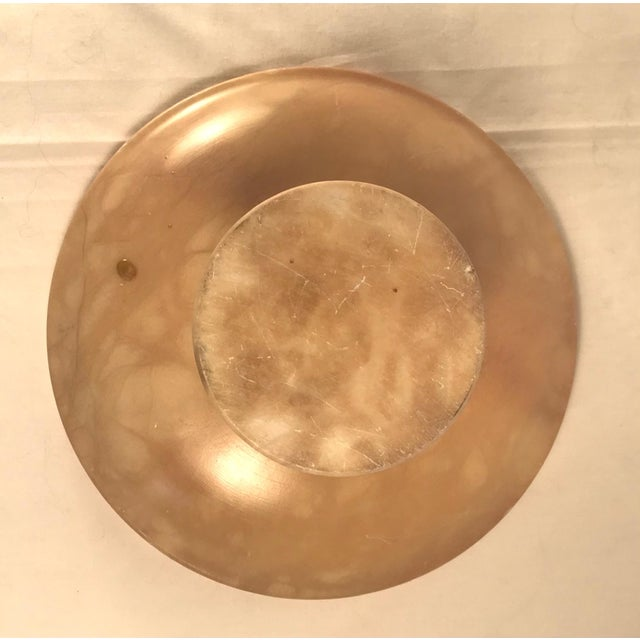 Vintage 1930s Italian Alabaster Footed Bowl Pedestal Dish Centerpiece For Sale In West Palm - Image 6 of 8