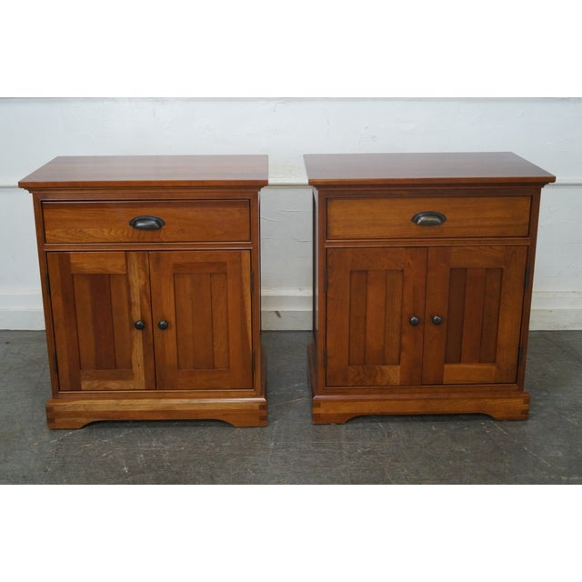 Michaels Furniture Traditional Solid Cherry Nightstands - A Pair - Image 2 of 10