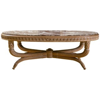 Hollywood Regency Low Coffee Table For Sale